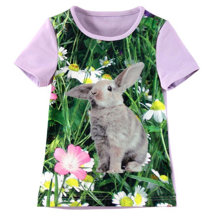 Jersey photo print  Rabbit & flowers 37x55 cm  No. 94714