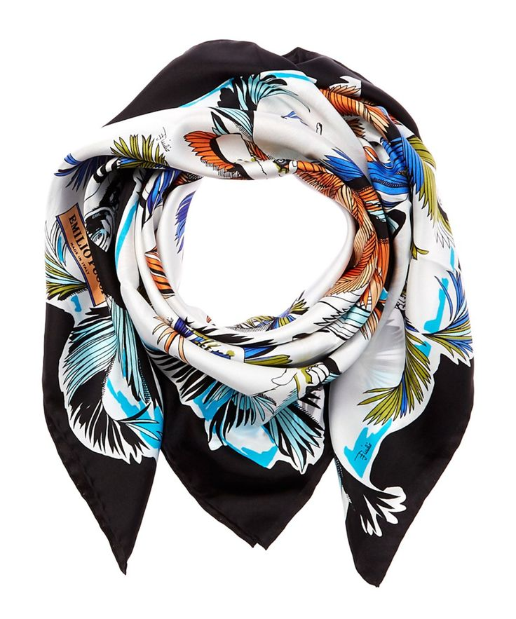 EMILIO PUCCI Emilio Pucci Jungle Print Silk Scarf'. #emiliopucci #accessories