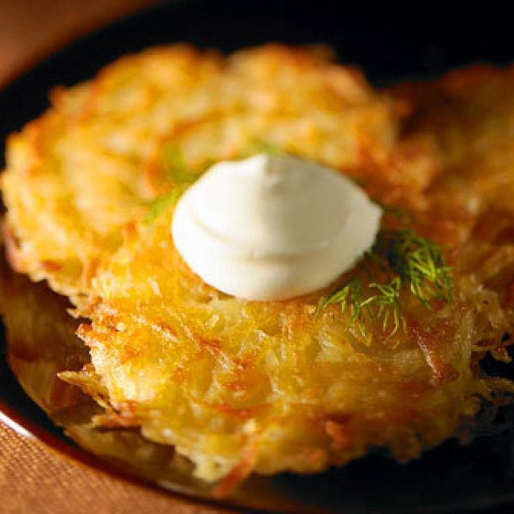 My grandmother made latke or potato pancakes for us.  If they had sold frozen hash browns in her day she would have been one of the first to use it.  She loved all the new convenience foods.  I remember when she bought her first bugles and tang and she just loved to cook with tomato soup.  I think she stayed awake at night dreaming up ways to use it.