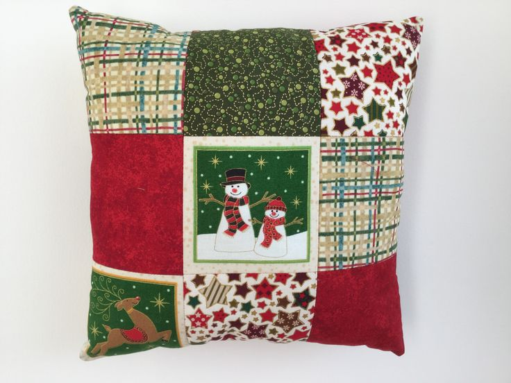 Christmas Mini Patchwork Cushion - Made by Jan  2016-11