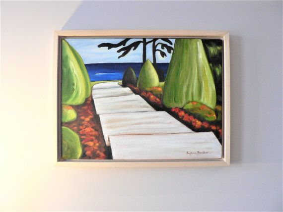 Original Lakeview Landscape Oil Painting by Suzana Zanettos