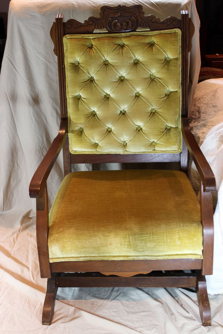 Antique upholstered rocking chairs - Vintage Platform Rocking Chair