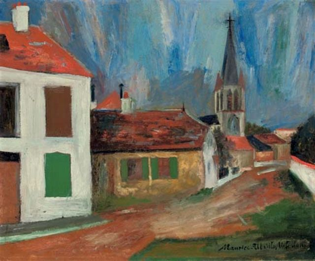 utrillo paintings | Eglise de Bessines-sur-Gartemps - Maurice UTRILLO - Paintings