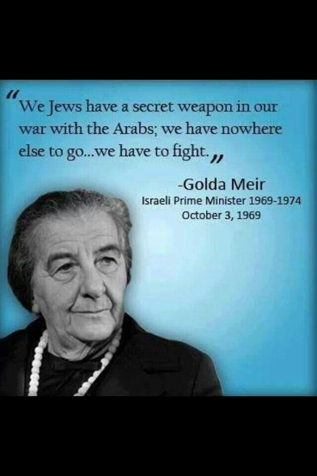 Golda Meir quote