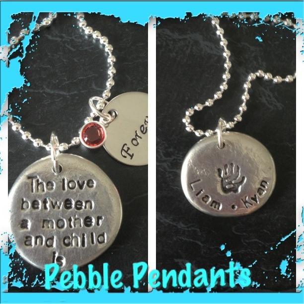 Pebble pendants
