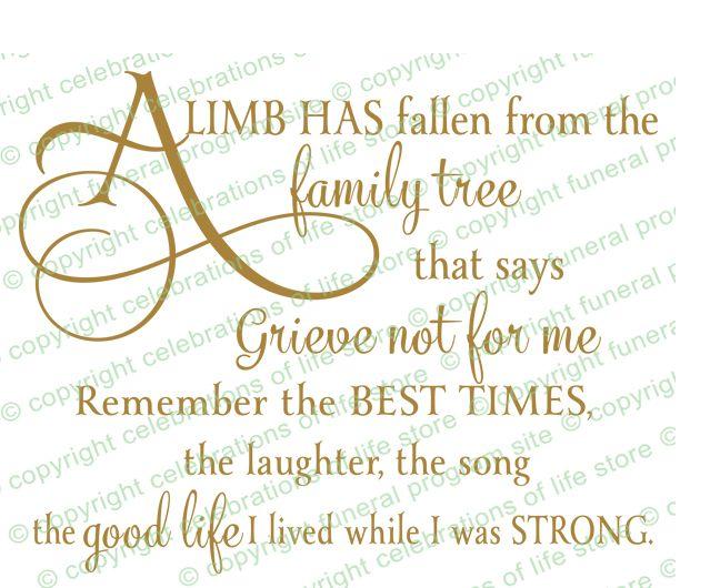 Celebration Of Life Sympathy Quotes