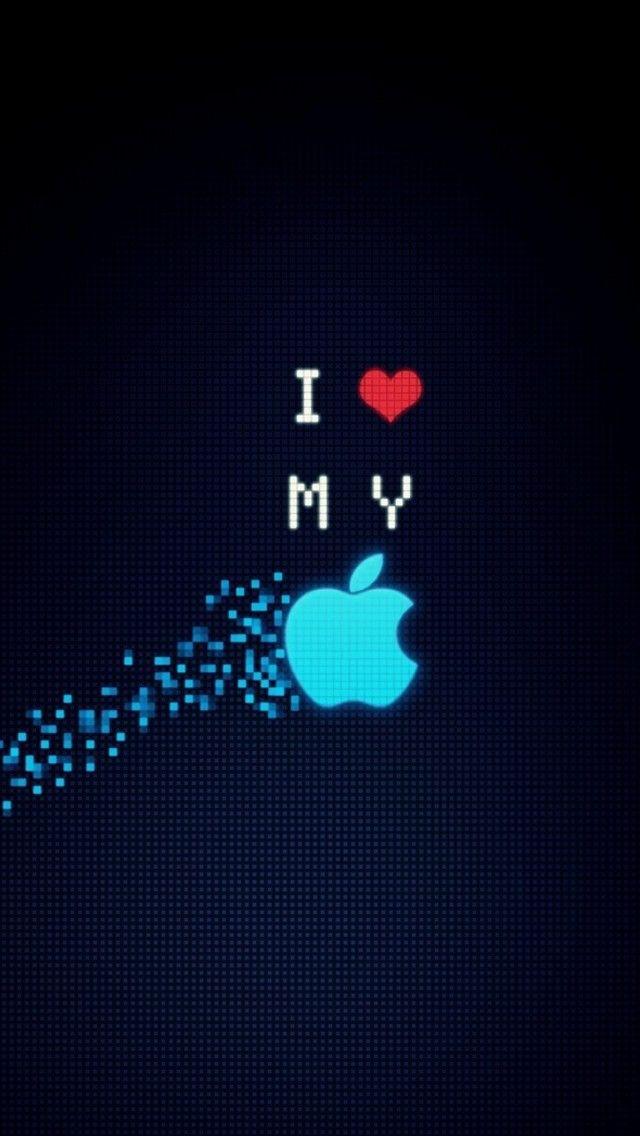 I Love My Apple Digital Ios 11 Iphone X Wallpaper Hd 4k