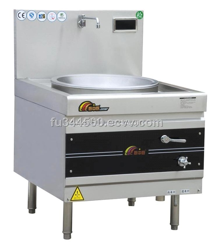 Danver Commercial Mobile Kitchen Carts: Commercial Induction Cooker Single Burner Chinese Wok