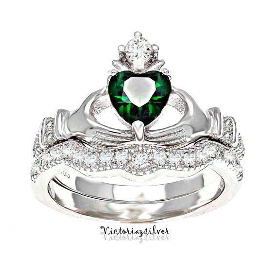 925 Sterling Silver Claddagh Ring,Stackable Claddagh Ring,Silver Heart Ring,Wedding Gift