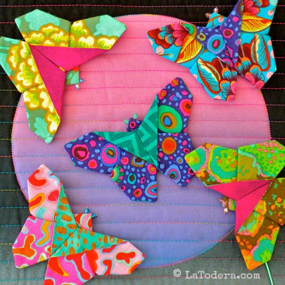 Fabric Butterfly Brooches PDF Pattern
