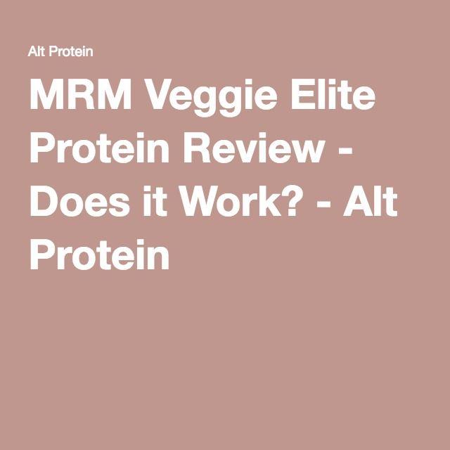 MRM Veggie Elite Protein Review - Does it Work? - Alt Protein