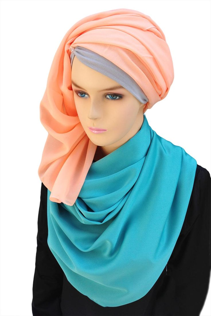 """Azure Hijab Hijab description  Satin Color: Turqouise or Blue-Green Contents: 100% polyester Length: 78"""" or 200cm Width: 29"""" or 75cm   http://hijabila.com/product/satin-turquoise-azure-hijab/"""