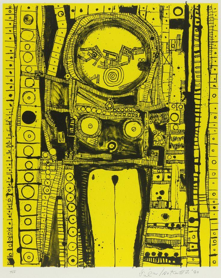 猪熊 弦一郎 「カチナドール (黄)」 Genichiro Inokuma - 創業36年 美術品販売の田辺画廊 ギャラリー田辺