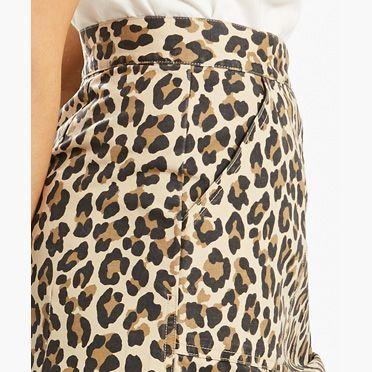 Levi's Cheetah Skirt - Women's L