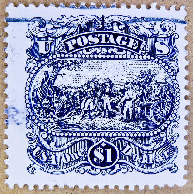 $ 1.00 Dollar u.s. postage Saratoga Campaign painting by John Trumbull