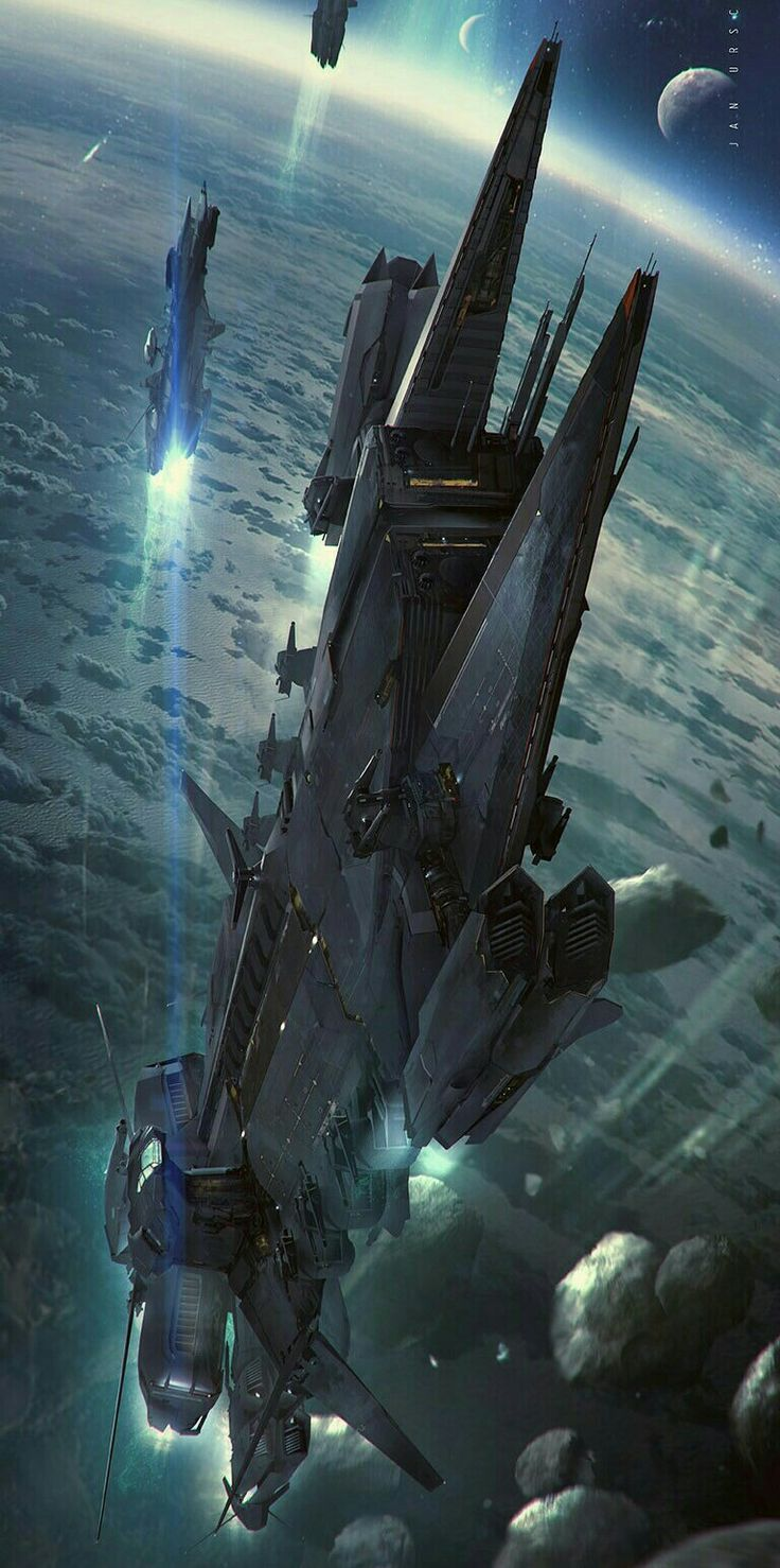 Space stations and space ships science fiction