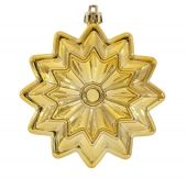 95mm Shiny Gold Flower Star  Code: DISC009GLDSFLOW