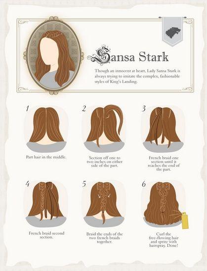 Game of Thrones Hairstyles- Sansa
