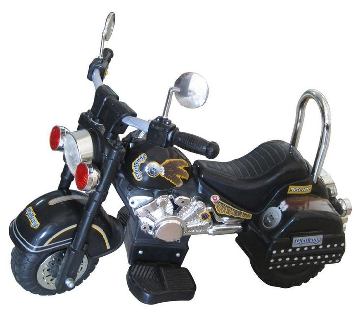 Harley Style 6V Battery Operated Kids Motorcycle (Black)