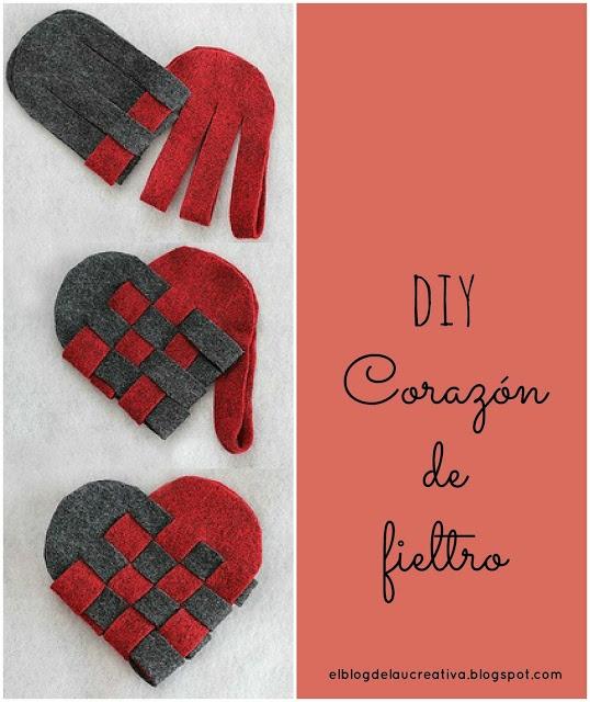 DIY Corazones de fieltro