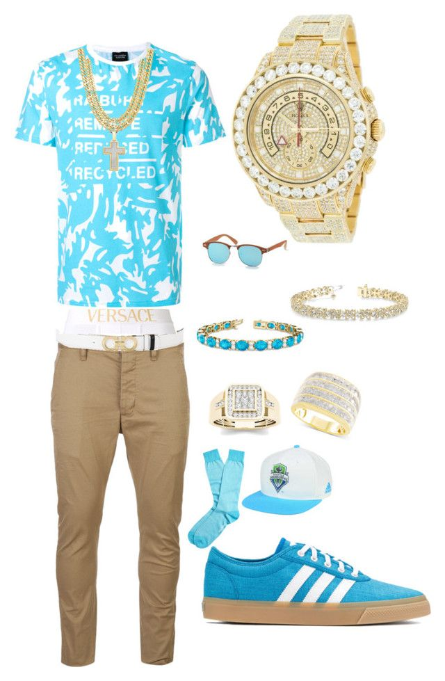 Splash by tikitress on Polyvore featuring Christopher Ræburn, Dsquared2, Versace, Brooks Brothers, adidas Originals, American Eagle Outfitters, adidas, Allurez, Salvatore Ferragamo and Rolex