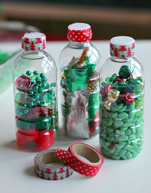 Magnetic Sensory Bottles - Christmas Activities For Preschool - No Time For Flash Cards