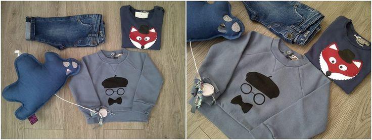 Ecco una proposta Cocochic pensata per il bimbo e ispirata al vintage... Babe&Tess e Emile et Ida On line su: http://www.cocochic.it/it/bambino/65-felpa-con-stampa.html http://www.cocochic.it/it/bambino/86-t-shirt-stampa-volpe.html http://www.cocochic.it/it/bambino/271-jeans-denim-.html http://www.cocochic.it/it/decorazioni/362-nini.html