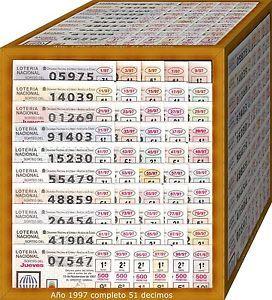 a ano completo 1997 loteria nacional del jueves