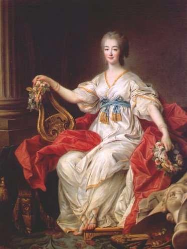 Madame du Barry as a muse, 1772 by Drouais