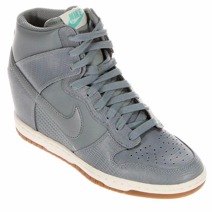 online retailer 4a6d0 379fe ... Wedge MyShopGirl.com Nike Dunk Sky Hi Sail Medium Grey - - salto  Fashion Pinterest Nike dunks and Nike ...