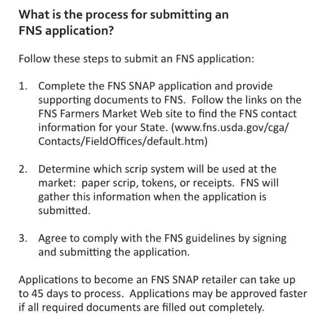 Follow these steps to sumbit an FNS application.