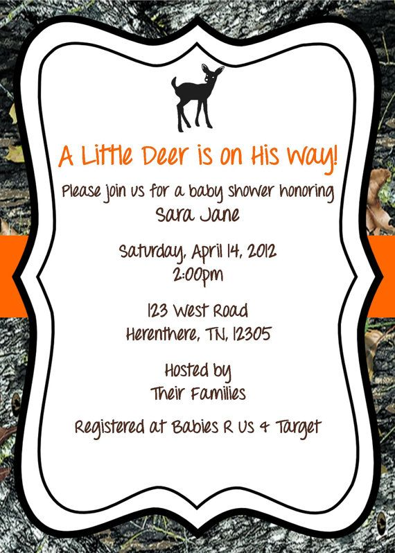 Mossy Oak Baby Shower Invitation Deer by ExpectedBlessings on Etsy, $12.00