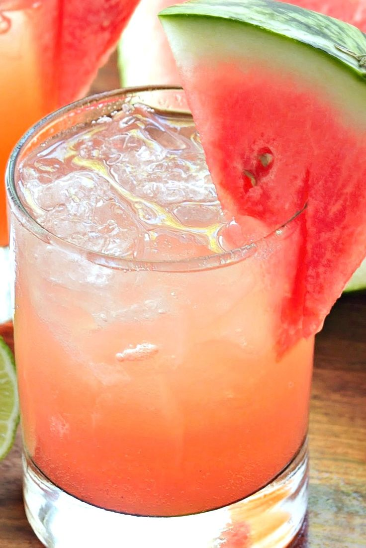 Skinny Fresh Watermelon Margaritas Recipe ~ A classic summer cocktail made with all fresh juices, leaving you with a low calorie Margarita with a fresh watermelon taste!
