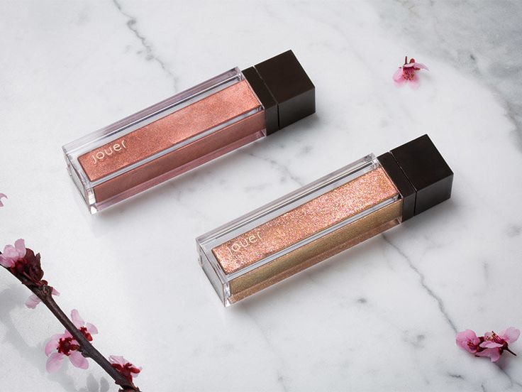Jouer Cosmetics Long-Wear Lip Crème and Lip Topper in Rose Gold