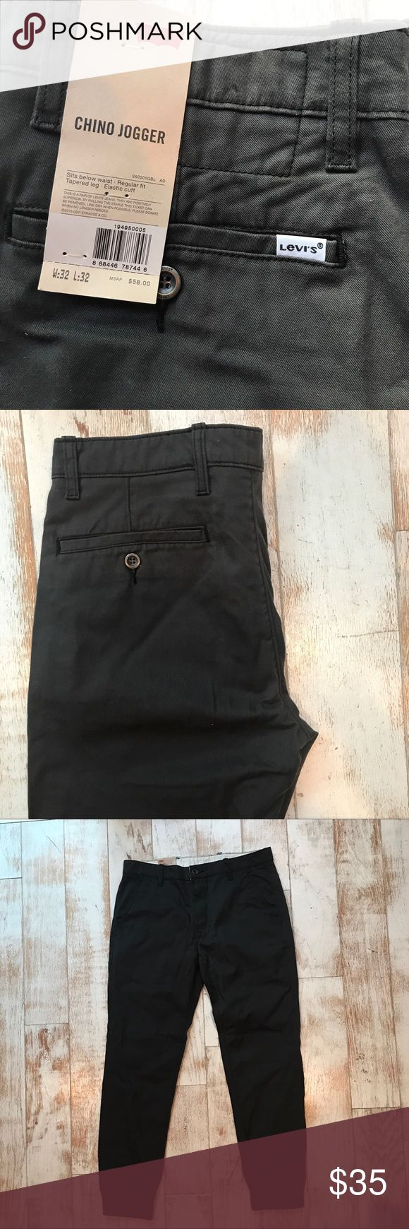 Levi's Chino Jogger Brand new Levi's black joggers. Lightweight and perfect for summer. Levi's Pants Chinos & Khakis