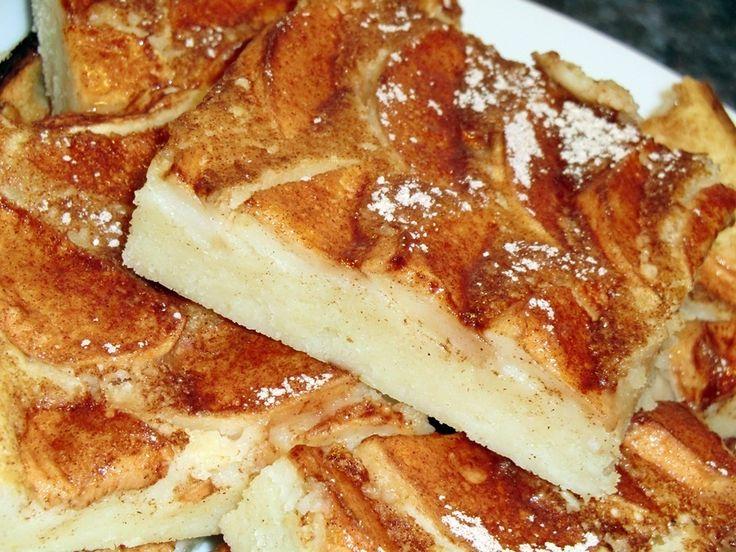 Almás palacsinta tepsiben recept