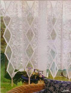 Τρεις κουρτίνες σαν όνειρο για αξιοζήλευτα παράθυρα, σχέδια για δαντέλες, φιλέ, Three drapes like a dream for enviable windows, lace designs, net, Drei Vorhänge wie ein Traum für beneidenswerte Fenster, Spitzenmuster, net,