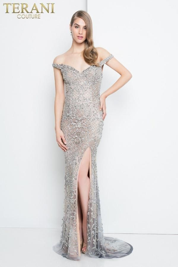 d6abb85aed88a Terani Couture Crystal Off Shoulder Evening Gown in 2019 | Products ...