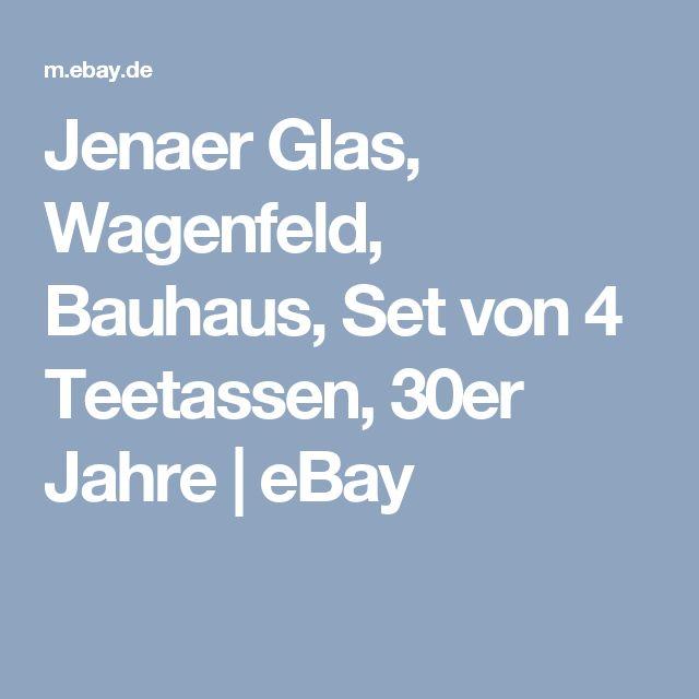 Jenaer Glas, Wagenfeld, Bauhaus, Set von 4 Teetassen, 30er Jahre | eBay