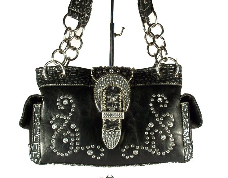 concealed+carry+purses | Concealed Carry Handbag Gun Purse / Montana West Rhinestone / Paisley ...