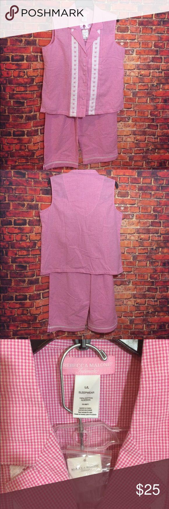 Molly Malone Pink Check Gingham Pajamas Sz L Molly Malone Pink Check Gingham Pajamas Sz L Molly Malone Intimates & Sleepwear Pajamas