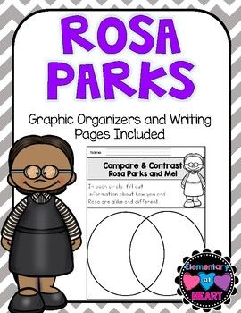 Rosa Parks was a courageous woman! This product will get your kiddos writing and making connections to Rosa Parks! This will make a great addition to your Rosa Parks Unit!! Included:- Rosa Parks KWL Chart- Rosa Parks Venn Diagram ( Rosa and Me!)- Rosa Parks Descriptions (graphic organizer)- Rosa Parks Information (graphic organizer)- Rosa Parks Facts (graphic organizer)- All About Rosa ( full writing page)- Why Was Rosa Parks a Hero? ( full writing page)- Rosa Parks- Timeline of Events…