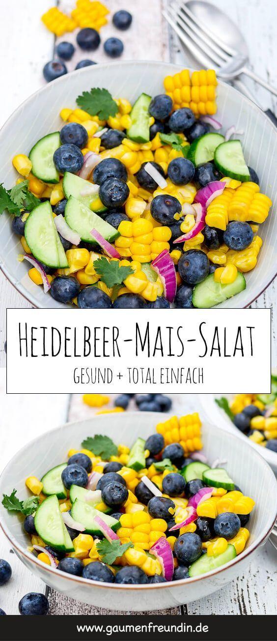 Heidelbeer-Maissalat   – ~ Food – Vorspeisen, Salate, Suppen & Snacks ~