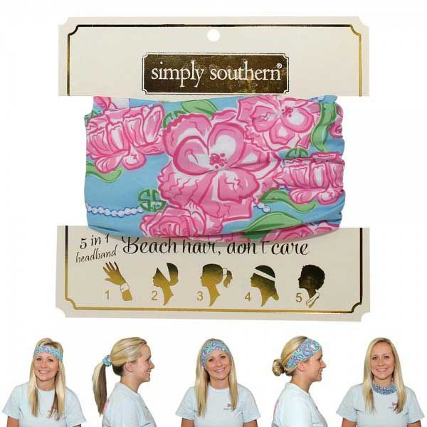 Simply Southern Preppy Collection Roses Headband and Accessory HEADBAND-ROSES