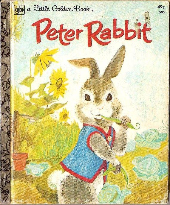 Vintage Peter Rabbit Beatrix Potter Little Golden Book by vintagebooklover