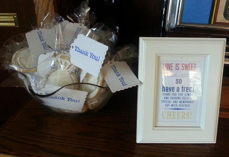 """Bridal Shower Favors - """"Love is Sweet so Have a Treat"""""""