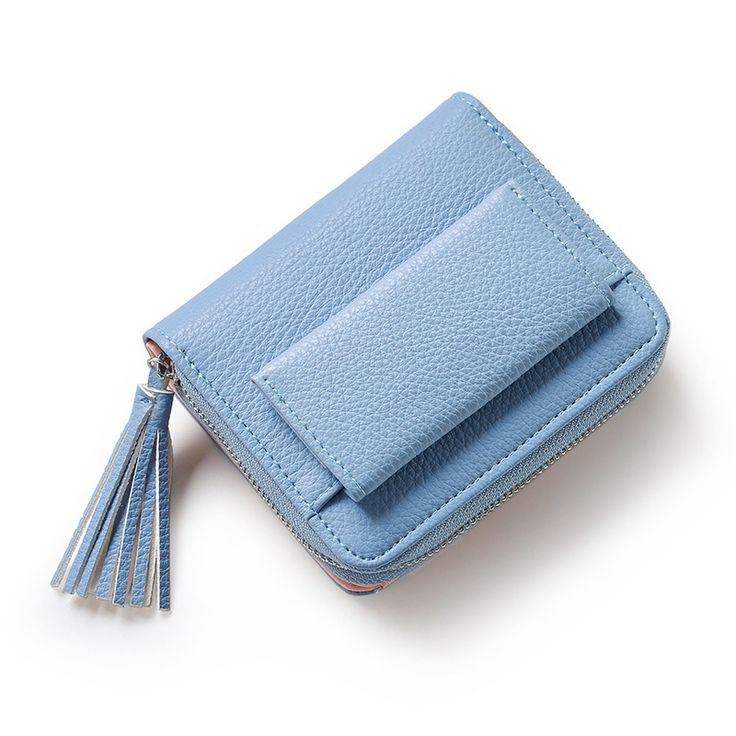 Short wallet female lovely student coin wallet for girls buckle small fresh tassels purse wallet new small wallet