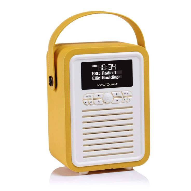 VQ (Formerly View Quest) Retro Mini Digital Radio (DAB/DAB+/FM) and Bluetooth Speaker - Red: Amazon.co.uk: TV