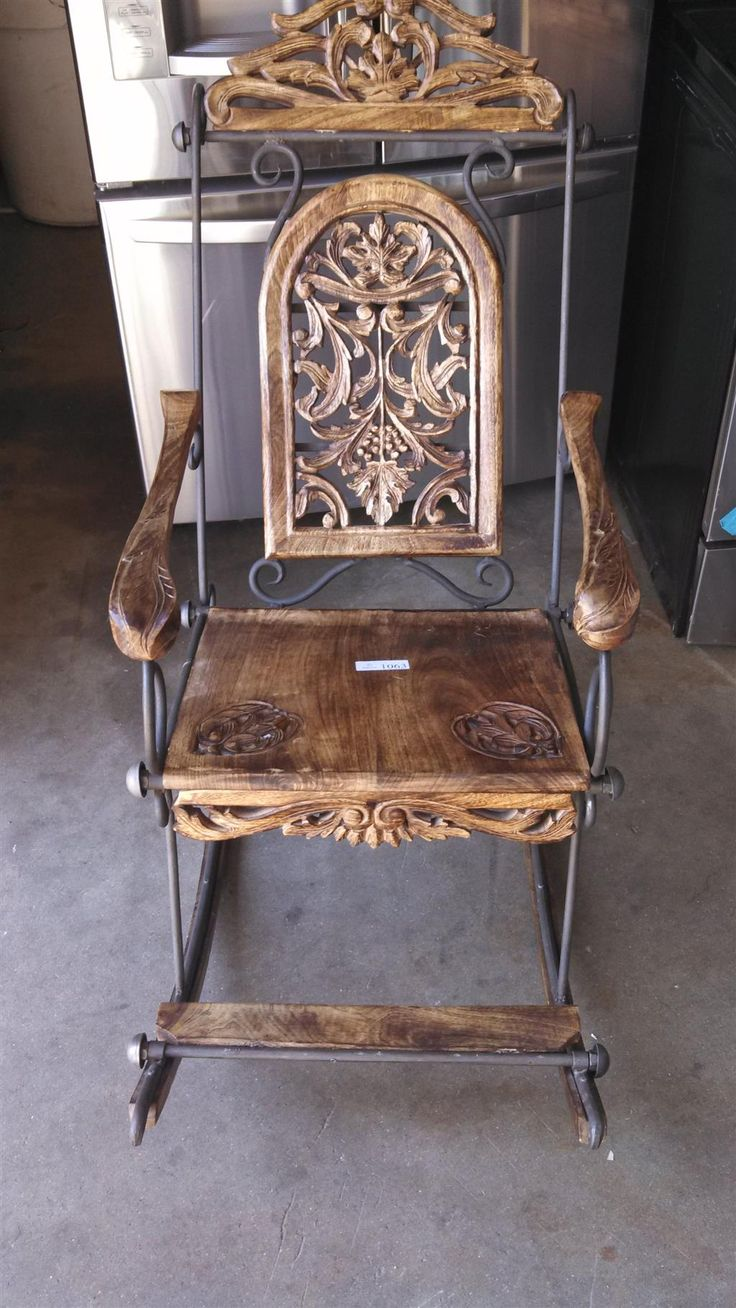 1 of 1 old wooden rocking chair