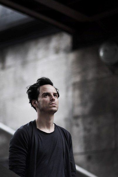 "Andrew Scott, playing Moriarty in the TV series ""Sherlock""."